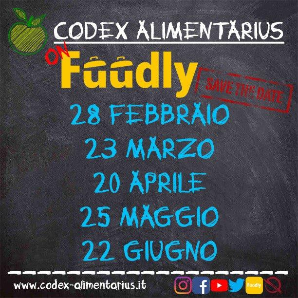 Codex Alimentarius on Fuudly - SAVE THE DATES